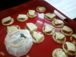 cowgirl creamery cheeses w/ jam on crackers