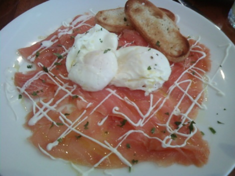 Smoked Salmon with Poached Eggs