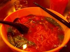 duck w/ egg noodle soup