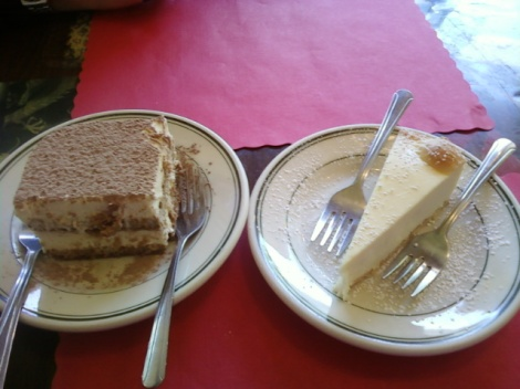 Tiramisu and Cheesecake