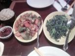 okra prawns and spinach