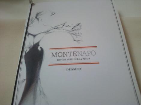Montenapo Ristorante Menu