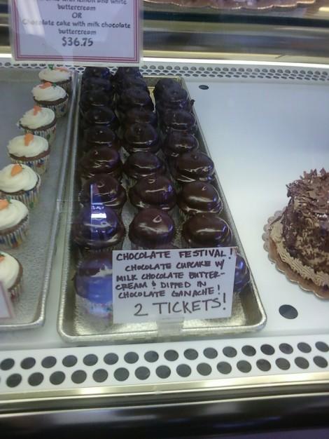 Chocolate Ganache Cupcake from Virginia Bakery