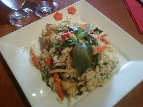 Green Curry Fried Rice w Tofu