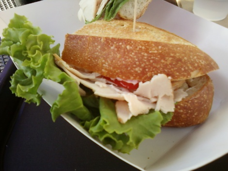 my half of the turkey & harvarti cheese sandwich at Boudin