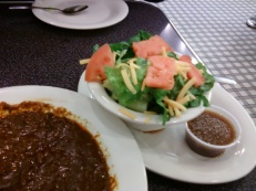 Chili Bowl and Salad