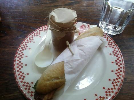 Baguette and Pot de Creme