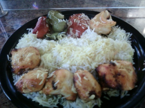 chicken shish kebab plate