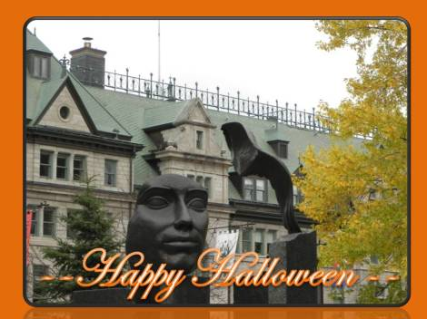 happy halloween from Quebec city