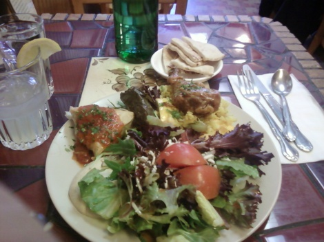 Pomagrante Chicken and Salad