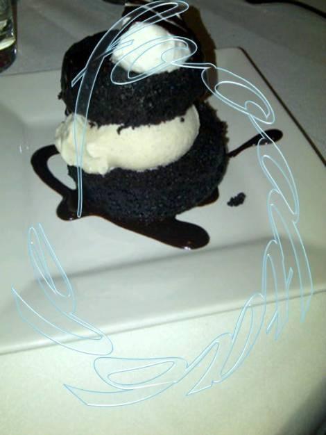 Chocolate Cupcake with Ice Cream