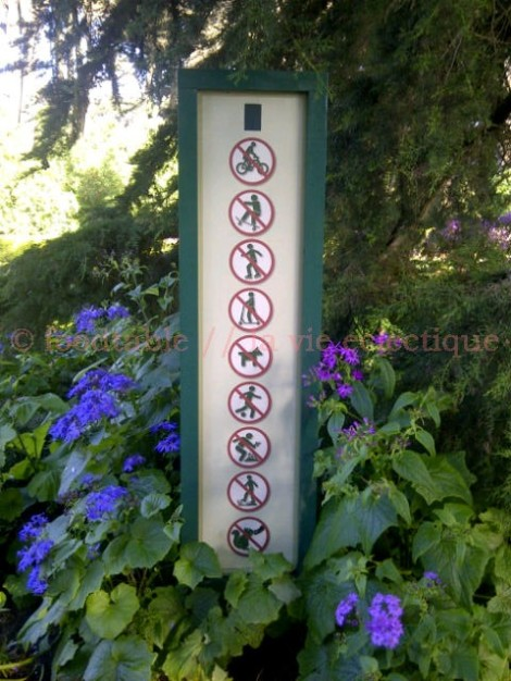 Things you can't do in a garden