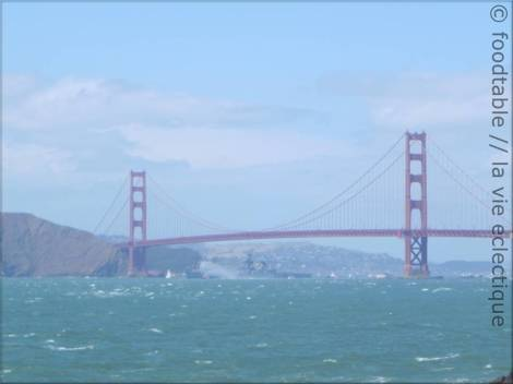 USS Iowa crossing the Golden Gate Bridge for the last time. May 26, 2012.