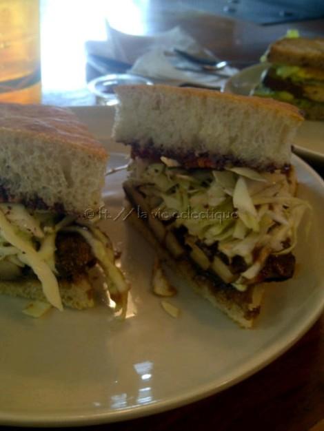 Another tofu sandwich, yummy