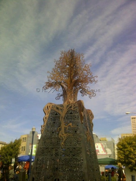 This sculpture was in the middle of the park in Hayes Valley. Looks like a representation of Tree of Life?