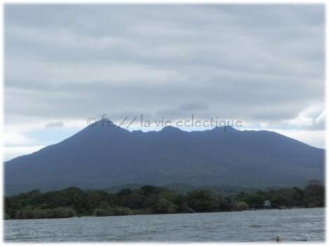 View of volcano on lake nicaragua