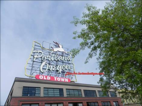 Portland Old Town Sign