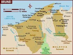 Map of Brunei, courtesy of Lonely Planet